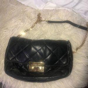 Black quilted MK bag